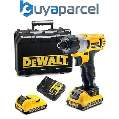Dewalt DCF610D2 10.8v XR Lithium Ion Hex Sub Compact Screwdriver - 2 x Batteries