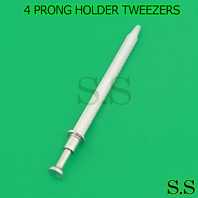 1 Piece 4 PRONG HOLDER TOOL SMALL PARTS EASY PICK UP TWEEZERS