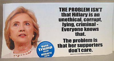 Wholesale Lot Of 20 Anti Hillary Clinton Crooked Stickers Trump President $ 2016