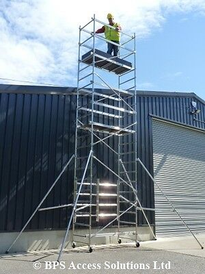 7.2m Trade Quick Erect Folding Aluminium Scaffold Tower/Towers Next Day Delivery
