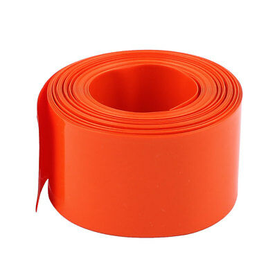 18.5mm Diameter 5M Length PVC Heat Shrink Tube Tubing Battery Wrap Orange