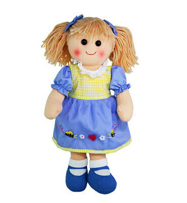 """Rag Doll ALICE by Hopscotch Collectibles ragdoll soft toy doll 14""""/35cm NEW"""