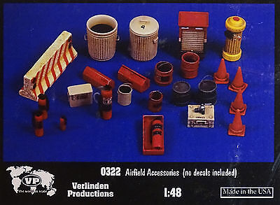 VERLINDEN PRODUCTIONS #0322 Airfield Accessories Resin Kit in 1:48