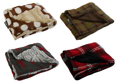 Petface Warm & Cosy Comforters Soft Puppy Dog Cat Reversible Blankets 75 x 90cm