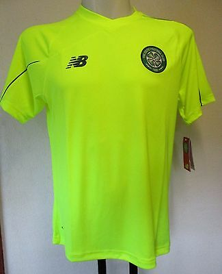 Celtic 2015/16 S/s Yellow 3Rd Training Shirt By New Balance Size Xl  New
