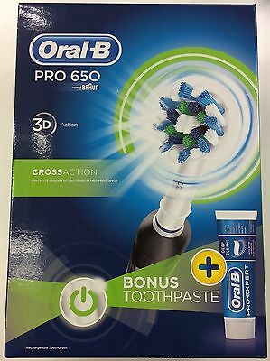 Oral B Pro 650 with free deep clean toothpaste