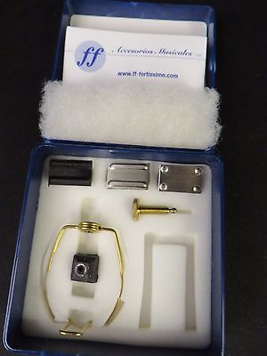 Fortissimo Ring Ligature AN01 Gold  for Soprano, Alto Sax, Bb Clarinet + More