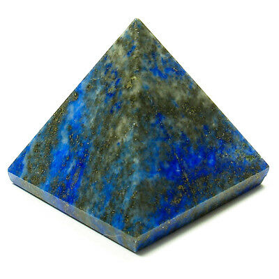 PYRAMID - LAPIS LAZULI 30-36mm Crystal with Description & Pouch - Healing Stone