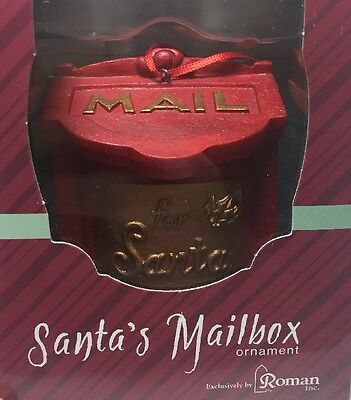 Mail For Santa Ornament Back Opens For Letters (33173) Roman NEW