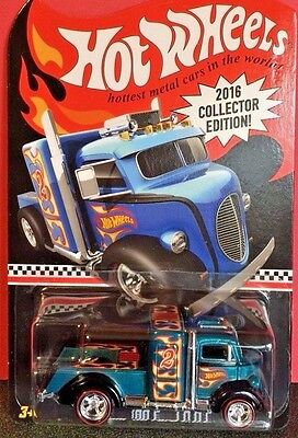 Hot Wheels 2016 1:64 K Mart Mail-In Exclusive CUSTOM 38 FORD COE Turquoise