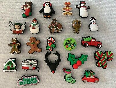 Christmas Jibbitz Christmas Shoe Charms Fit Crocs Stocking Snowman Gingerbread