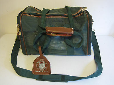 """Sherpa Small Pet Carrier Dog Cat Travel Airline Approved 16"""" Green"""