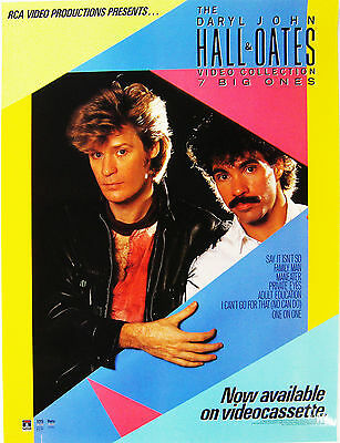 "Hall & Oates Video Collection PROMO POSTER 18"" x 24"" GOOD"