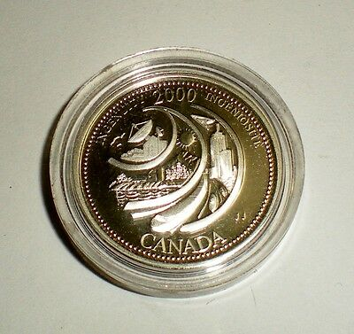 Canada Coin 2000 Millennium Ingenuity 25¢ Silver Proof Quarter Uncirculated