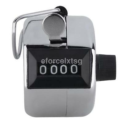 1* Tally Counter Hand Held Clicker 4 Digit Chrome Palm Golf People Counting Club