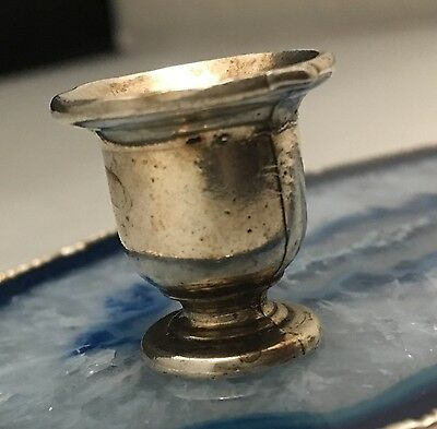 BEAUTIFUL Hand Crafted Sterling Silver Miniature Cup Goblet - Dollhouse -L352