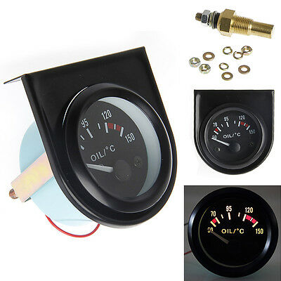 "Hot Universal 2"" 52mm Car Pointer Oil Temperature Temp Gauge LED Light 50-150℃"