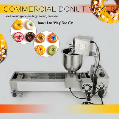 Commercial Automatic Donut Maker Making Machine,Wide Oil Tank,3 Sets Free Mold