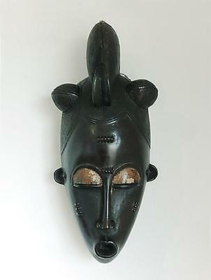 FINE OLD BAULE WEST AFRICAN COTE D'IVOIRE TRIBAL GOLI DANCE MASK MID 20thC