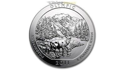 America the Beautiful ATB Olympic National Park Washington 5 oz Silber USA 2011
