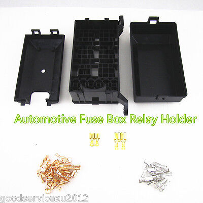 Professional High Quality Car SUV 6-Relay 5 Road Relay Box Fuse Holder Kit Black