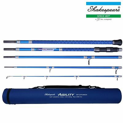 "SHAKESPEARE NEW AGILITY 2 EXP TRAVEL BEACH ROD 11ft 6"" 5 PIECE SEA FISHING"