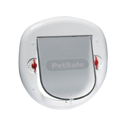 PetSafe StayWell Large Cat Flap Pet Door White Finish With Transparent Doorway