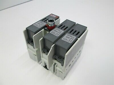 ABB OS 30AJ12 Fusible Switch Interrupter 600VAC 30A 3-Phase, Type HRC I-J Fuses