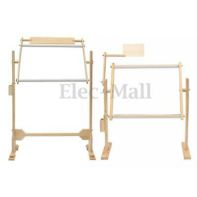 Adjustment Wooden Frames Tabletop Cross Stitch Embroidery Floor Stand 2 Sizes