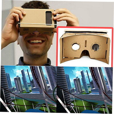 Ulter Clear DIY Cardboard 3D VR Virtual Reality Glasses For Smartphone FB