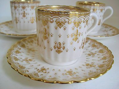 Spode FLEUR DE LYS gold y8063-c coffee cup & saucer up to 11 available