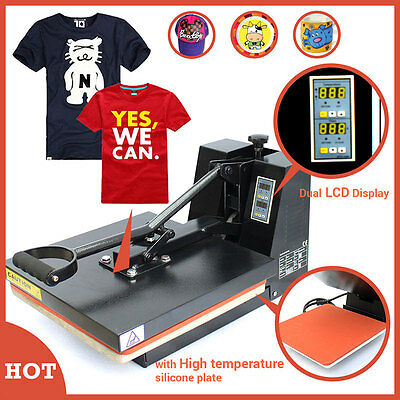 "Digital Heat Transfer Machine T-Shirt Sublimation Printer Heat Press 15"" x 15"""