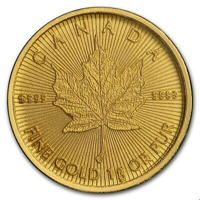 Maple Leaf 2016 1 Gramm Maplegram 999 Gold Goldmünze Blister m. Seriennummer