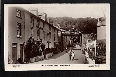 Aberdovey - The Penhelig Arms  -  real photographic postcard