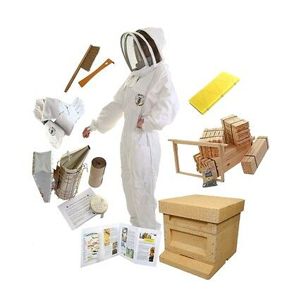 Complete Beekeeping Starter Kit Including Bee Hive, Bee Suit, Gloves And Tools!
