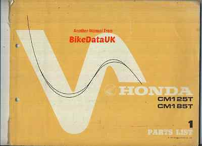 Honda CM125T CM185T (1978-on) Parts List Catalogue Book CM 125 185 T Twin-Star