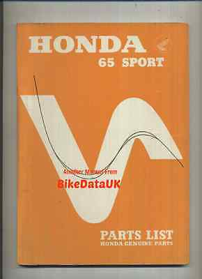 Genuine Honda S65 Sport (1965-1969) Parts List Catalogue Book Manual S 65 CS65