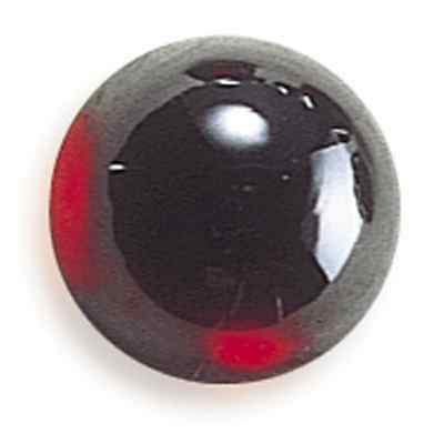 A PAIR OF 8mm ROUND CABOCHON-CUT DEEP PURPLE/RED NATURAL ALMANDITE GARNET GEMS