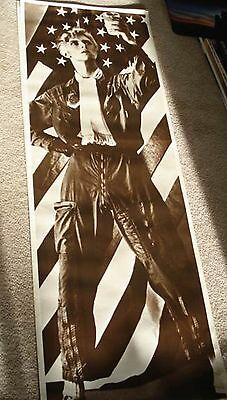 "David Bowie ""young Americans"" Giant Doorsize Commercial Poster From 1981 Europe"