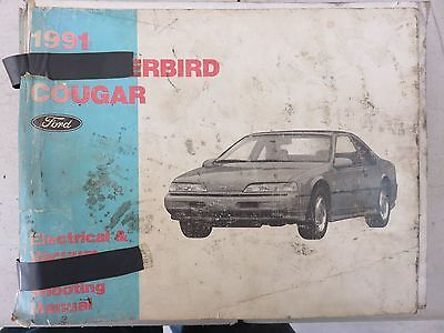 1991 ford thunderbird cougar electrical wiring diagram service rh picclick com