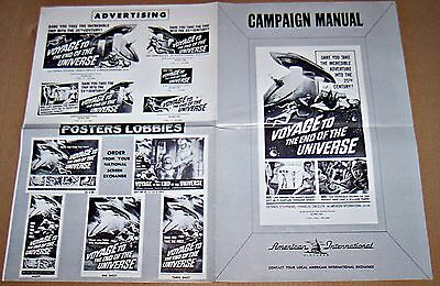 Voyage To The End Of The Universe (1964) Rare Aip Sci-Fi Original Pressbook
