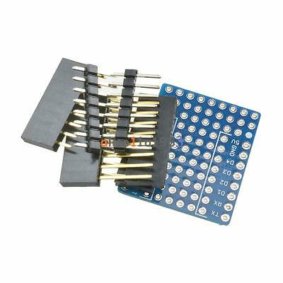 2x ProtoBoard Shield for WeMos D1 mini double sided perf board Arduino