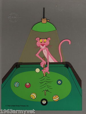 Pink Panther BILLIARDS  8 BALL  Animation Sericel  New Never Framed