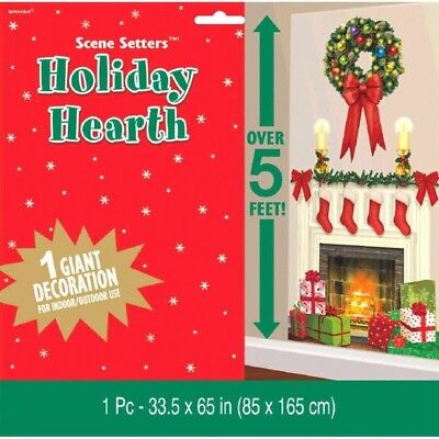 Holiday Hearth Scene Setters Add-ons Wall Decoration Kit Christmas