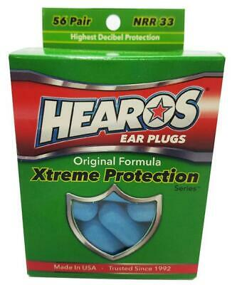 HEAROS HO5656 Xtreme Ear Plugs Blue Foam 56 Pairs *NEW* Noise Reduction US