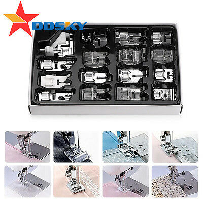 8-36pcs Domestic Sewing Machine Foot Feet Presser Kit For Brother Singer Janome