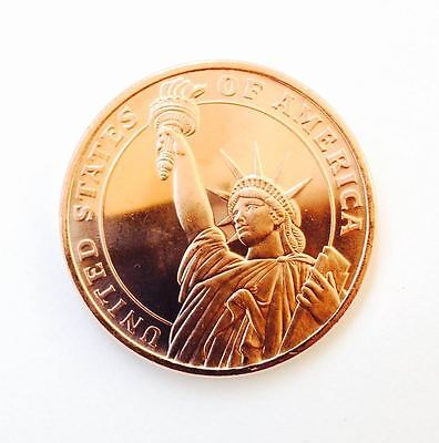 1 AVDP oz Statue of Liberty   Medaille Kupfer copper 999 / 1000