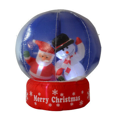 1.2M Christmas Santa and Snowman Inflatable Snow Globe Ball Decoration Xmas NEW
