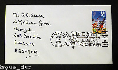 """USA 2000 """"Wile E. Coyote & Road Runner"""" First Day Cover from collection"""