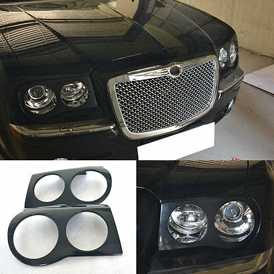 For Chrysler 300C 2003-2011 A Pair Front Headlamp Cover Front Headlight Hood